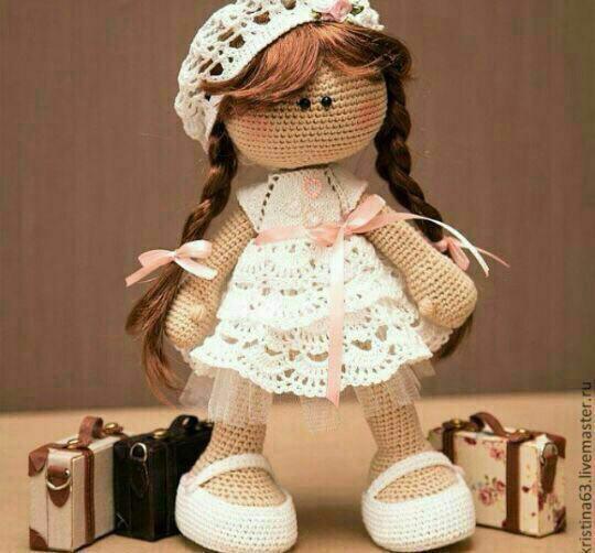 آموزش بافت عروسک دختر با دو میل و با قلاب
