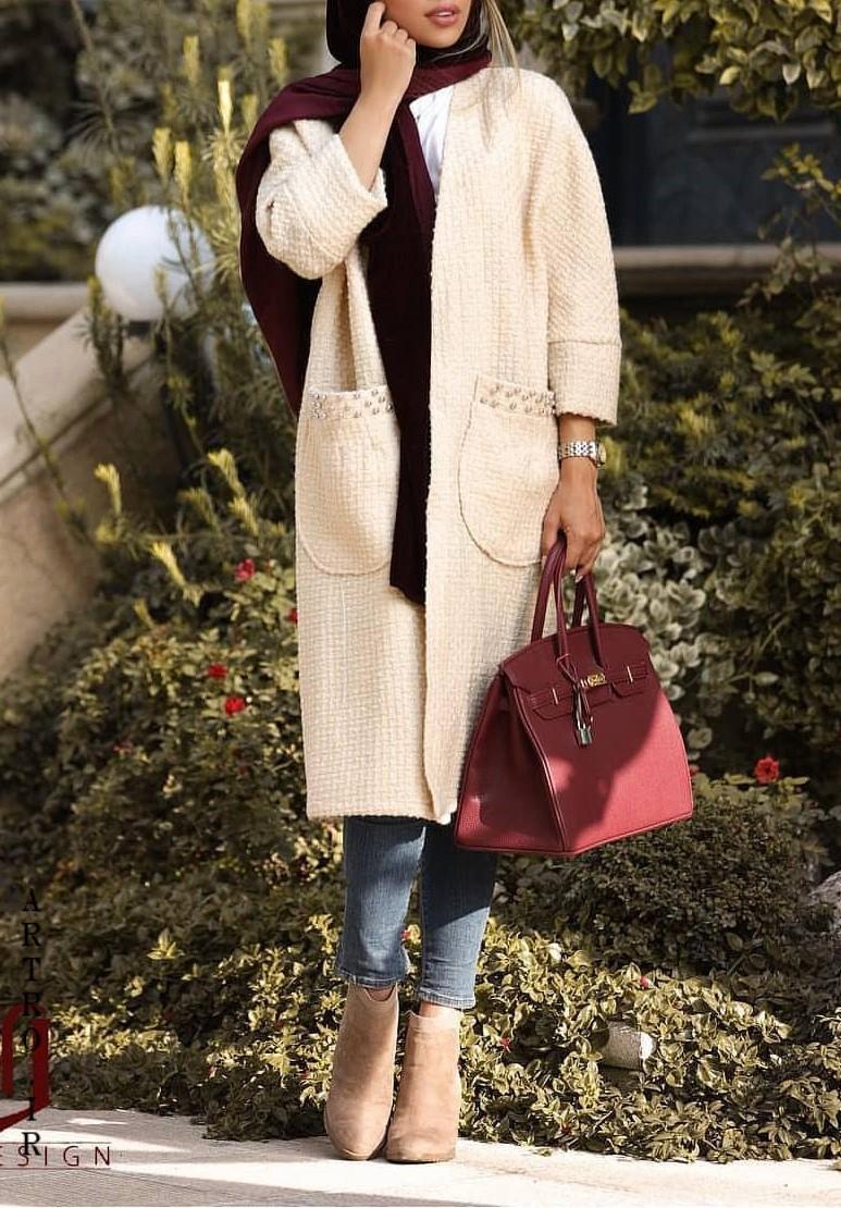 مدل مانتو بافت زنانه پاییزی