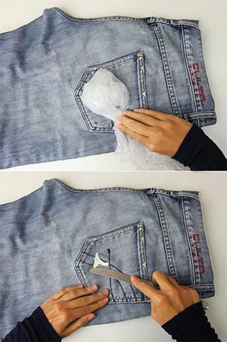 پاک کردن آدامس از روی لباس,نحوه پاک کردن آدامس از روی لباس