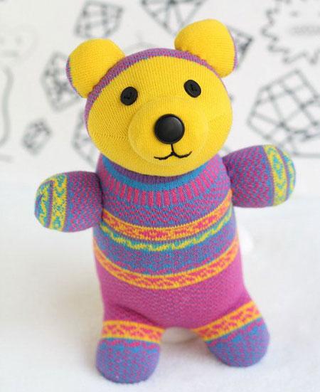 آموزش عروسک سازی,درست کردن عروسک جورابی