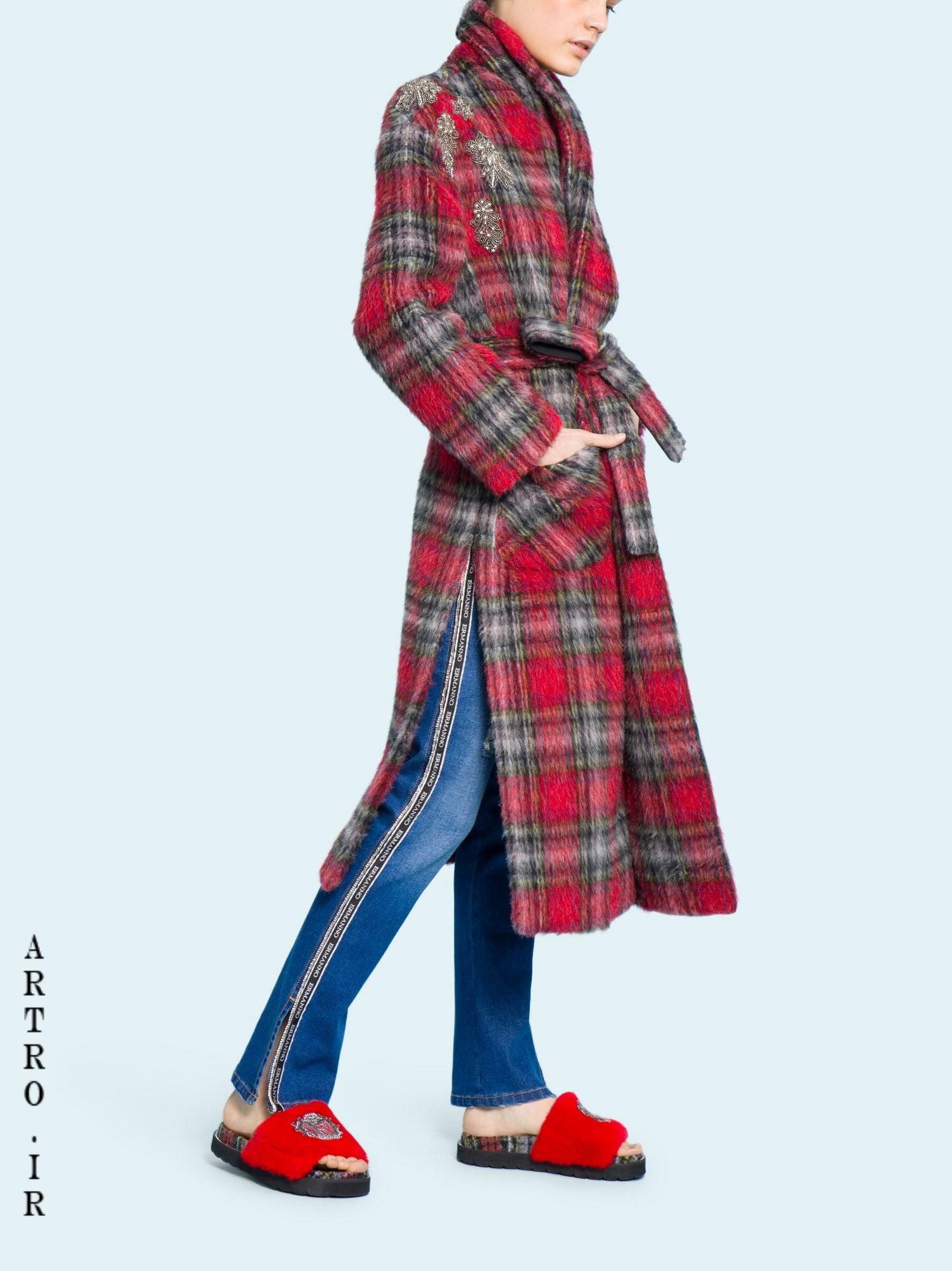 مدل پالتو جدید دخترانه پشم