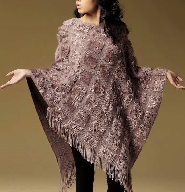 مدل شنل بافتنی زنانه