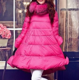 مدل پالتو بارانی یقه خز دخترانه زمستانی