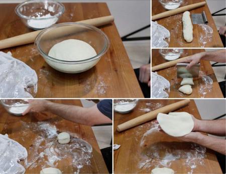 تکنیک های پخت نان هندی, مراحل پخت نان هندی
