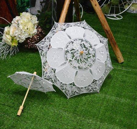 مدل چتر عروس,چتر سفید عروس