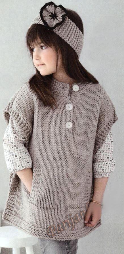 جدیدترین مدل ژاکت بافتنی بچه گانه دخترانه