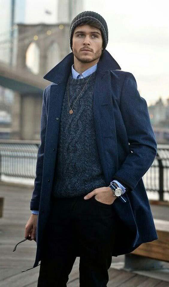 مدل لباس زمستانی مردانه پالتو