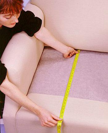 تغییر روکش مبل راحتی, روش اندازه گیری برای دوخت رو مبلی