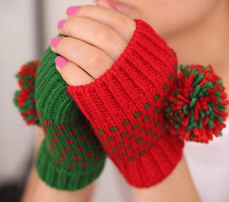 شیک ترین دستکش های بافتنی دخترانه زنانه