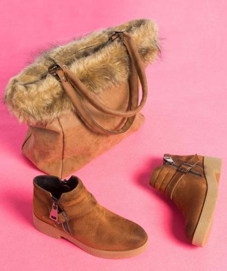 مدل کیف و بوت زنانه, ست کیف و کفش زمستانی