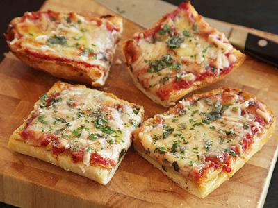 نحوه درست کردن پیتزا با نان ساندویچی,پخت پیتزا تک نفره