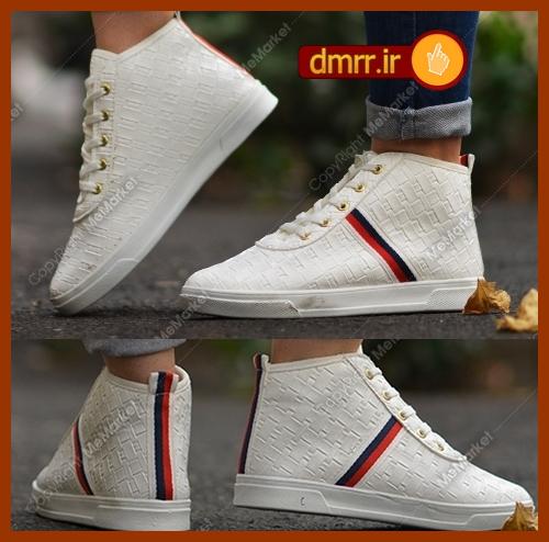 کفش سفید ساقدار دخترانه  فشن رنگ سفید 1397
