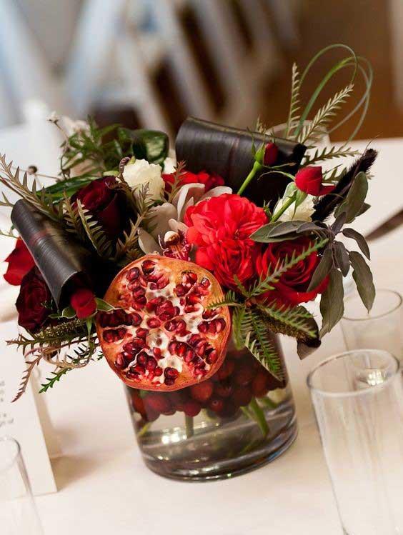 تزیین انار شب یلدا برای عروس