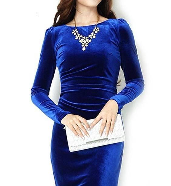 مدل لباس مجلسی مخمل کوتاه اینستاگرام
