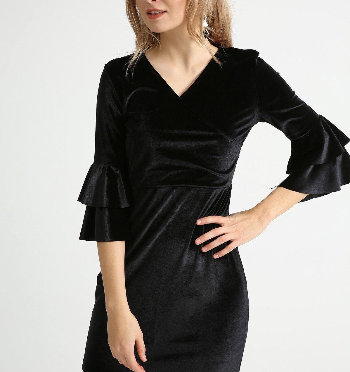 مدل لباس کوتاه مجلسی با پارچه مخمل