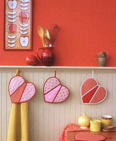 آموزش دوخت دستگیره های آشپزخانه به شکل قلب