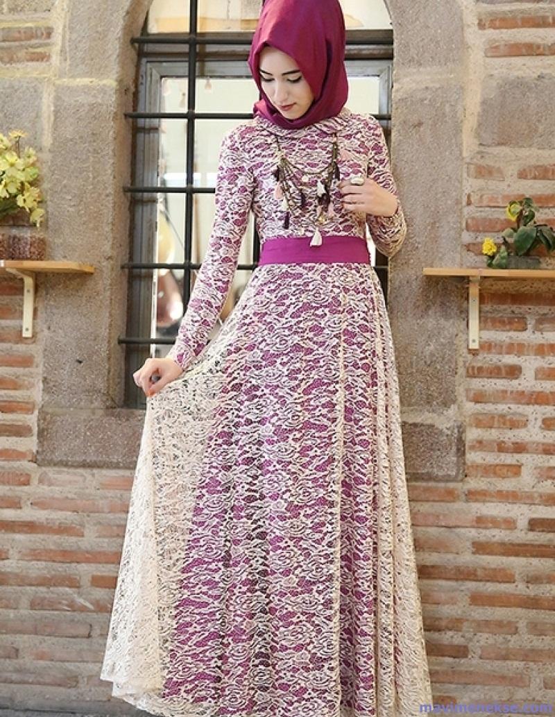 مدل لباس مجلسی گیپور بلند 2018