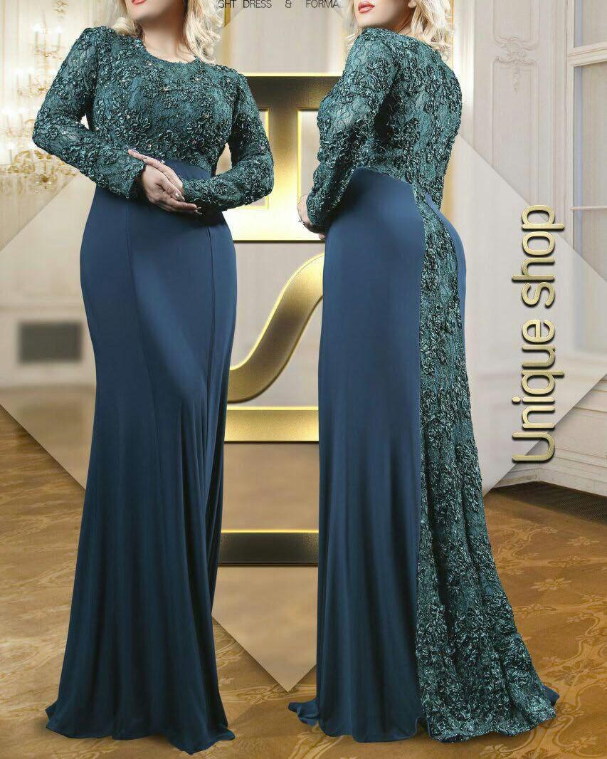 مدل لباس مجلسی بلند کرپ زنانه