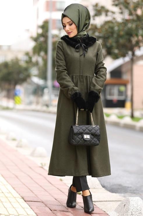 مدل مانتو بلند زمستان