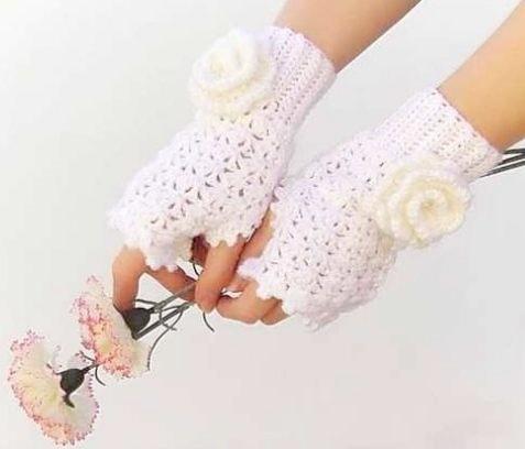مدل دستکش بافتنی عروس