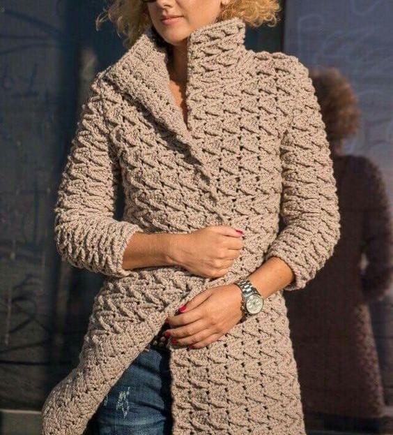 مدل مانتو بافتنی دخترانه جدید