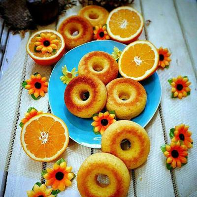 طرز تهیه ی دونات پرتقالی