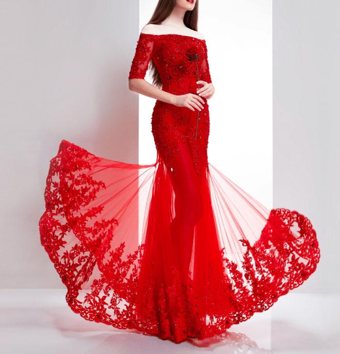 مدل لباس مجلسی بلند زنانه شب یلدا