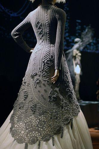 مدل بافتنی لباس عروس