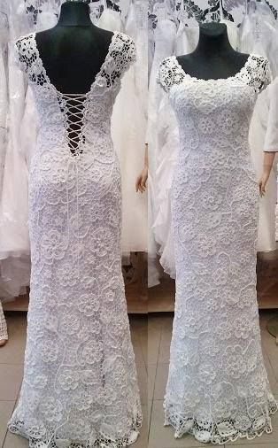 مدل بافتنی لباس عروس5