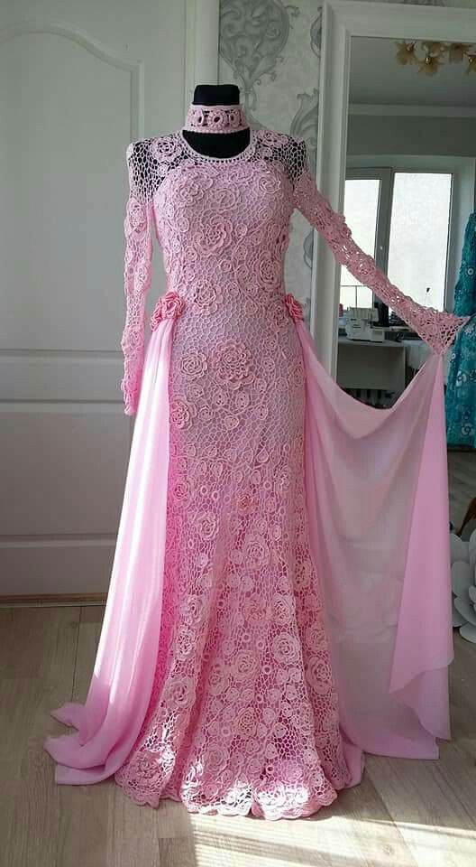 مدل بافتنی لباس عروس4