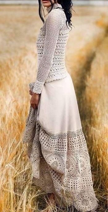 مدل بافتنی لباس عروس6