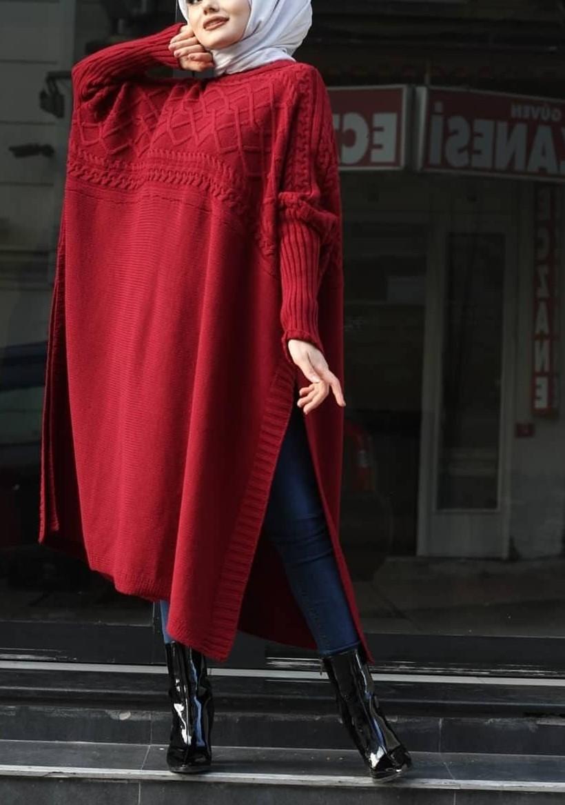 مدل مانتوی بافت بلند