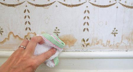 طرز تمیز کردن کاغذ دیواری, شیوه تمیز کردن کاغذ دیواری