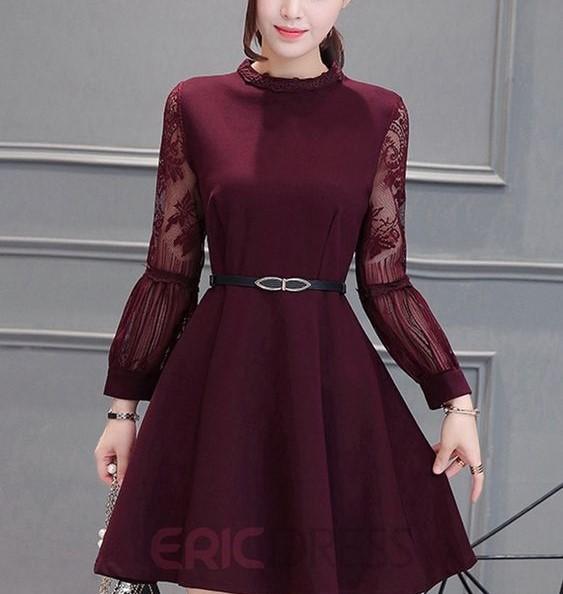 مدل لباس کوتاه فانتزی زرشکی