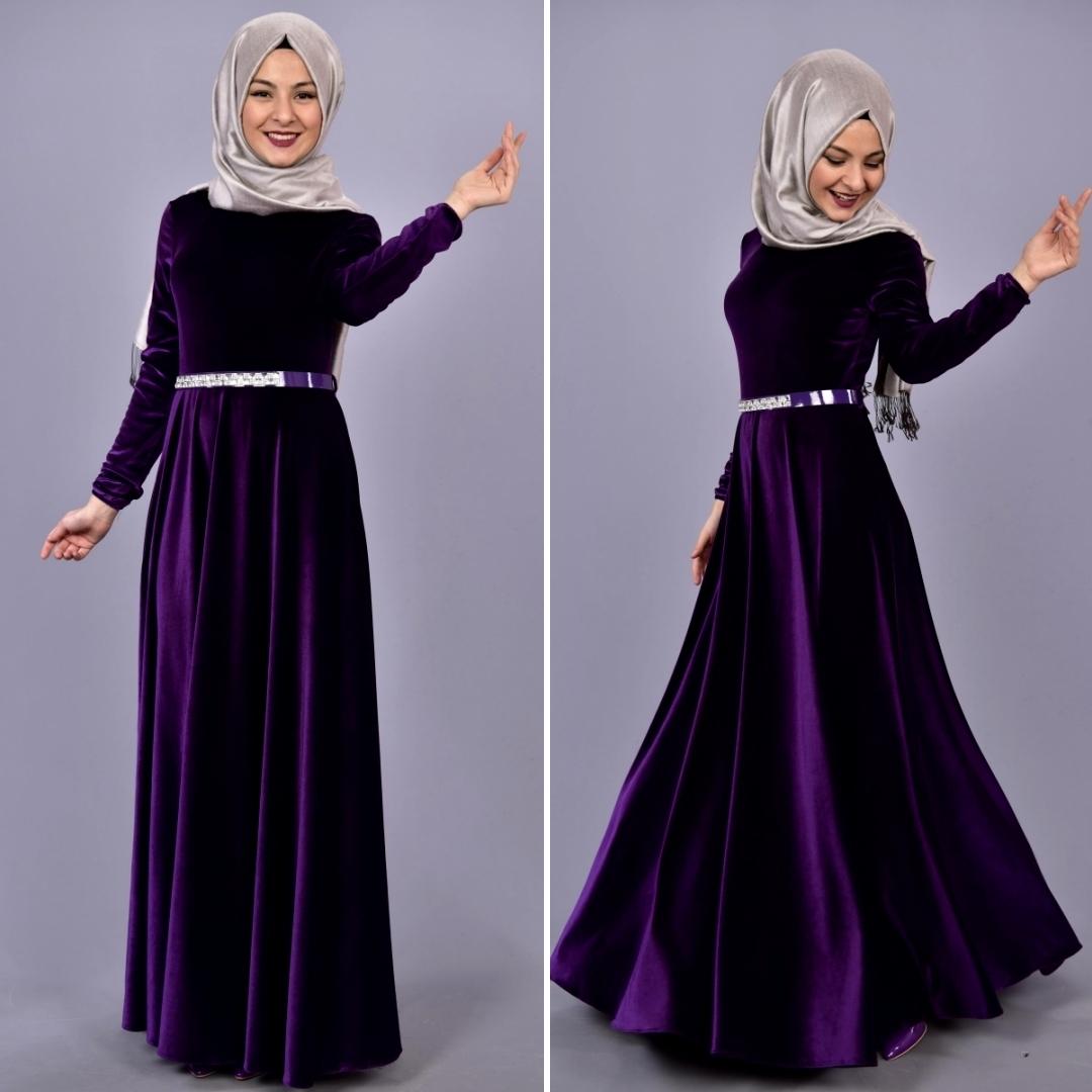 مدل لباس مجلسی مخمل بلند زنانه