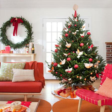 چیدمان های زیبای درخت کریسمس, ساخت و تزیین درخت کریسمس
