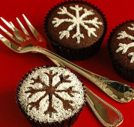 تزیینات کاپ کیک ویژه کریسمس
