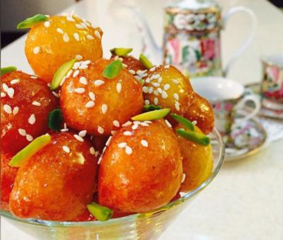 طرز تهیه لگیمات (لیقمات) شیرینی سنتی بوشهری