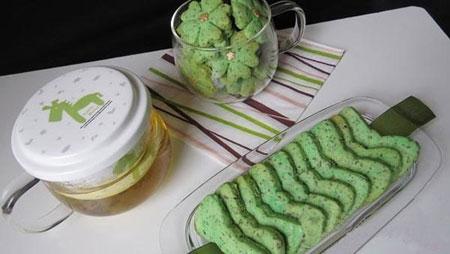 طرز تهیه بیسکوئیت چای سبز