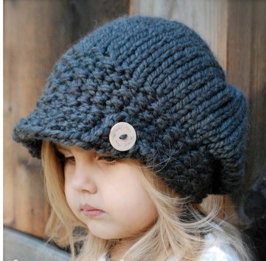 مدل کلاه بافتنی دخترانه بچه گانه 2019