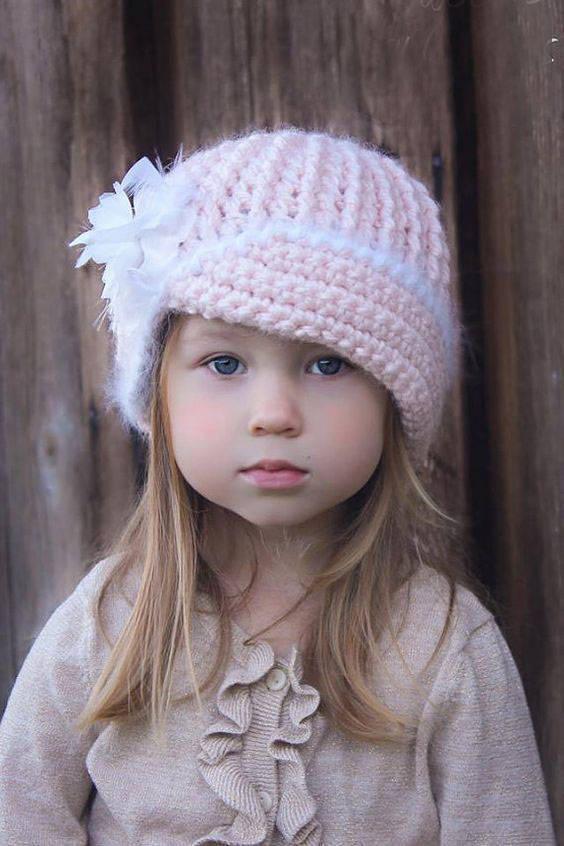 مدل شال و کلاه بافتنی دخترانه بچه گانه