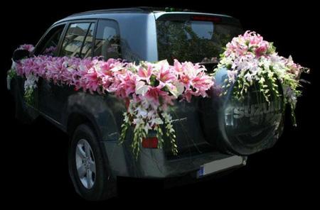 تزیین ماشین عروس مدل بالا, ماشین عروس