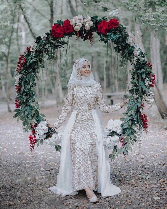 مدل لباس عروس پوشیده جدید 98-2019