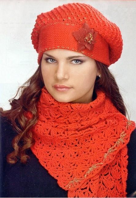 مدل شال و کلاه بافتنی ترکیه