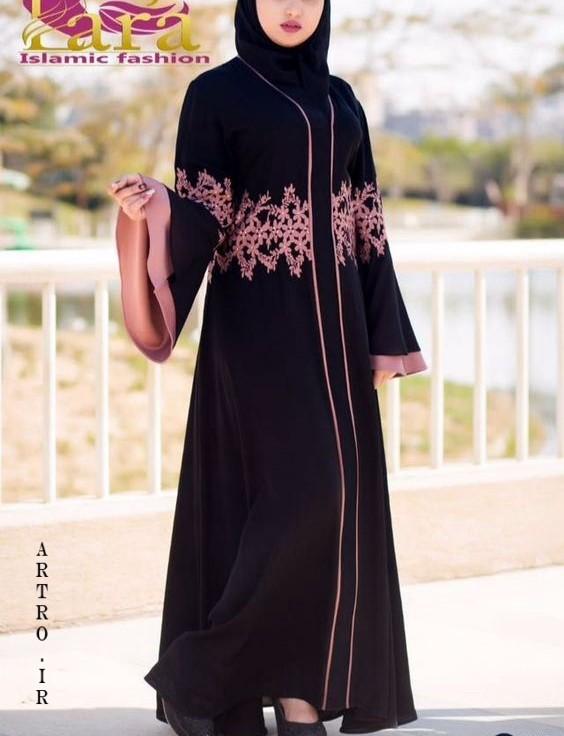 مدل مانتو مشکی بلند اینستاگرام 2019