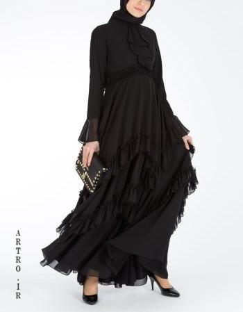 مدل مانتو بلند مشکی ایرانی