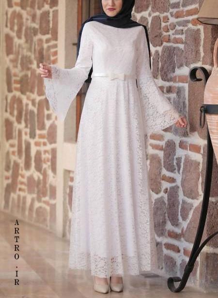 مدل لباس عروس باحجاب جديد