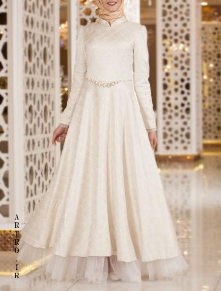 مدل لباس عروس پوشیده و ساده