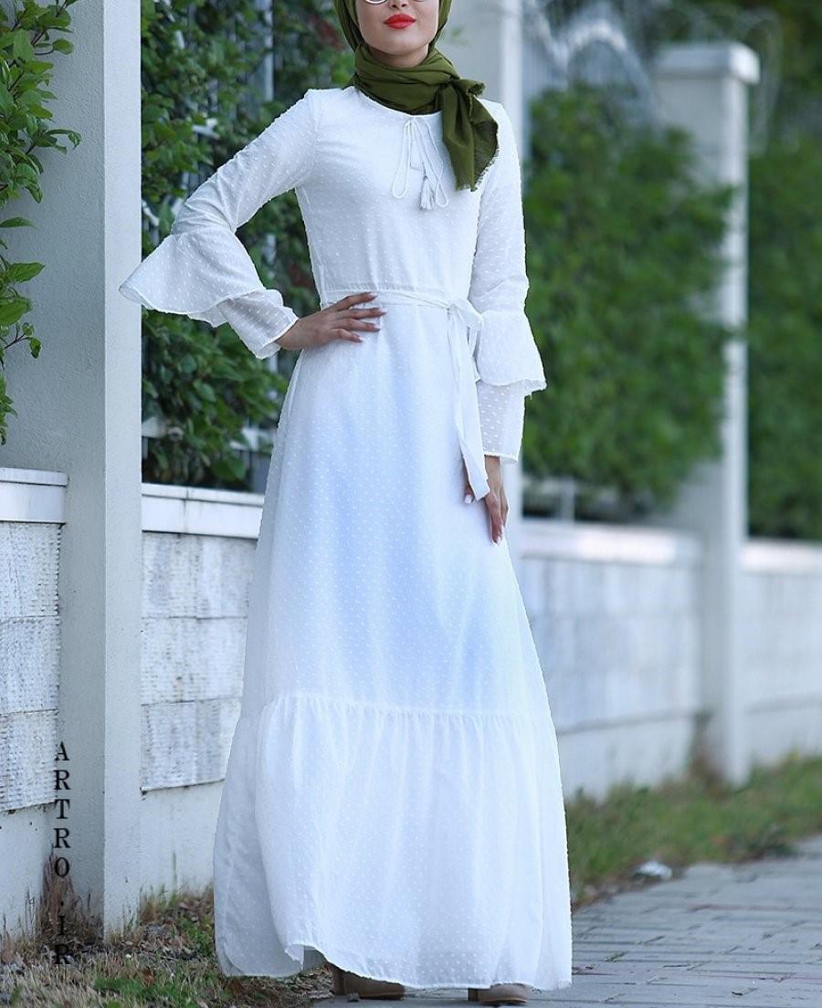 مدل مانتو سفید مجلسی دخترانه