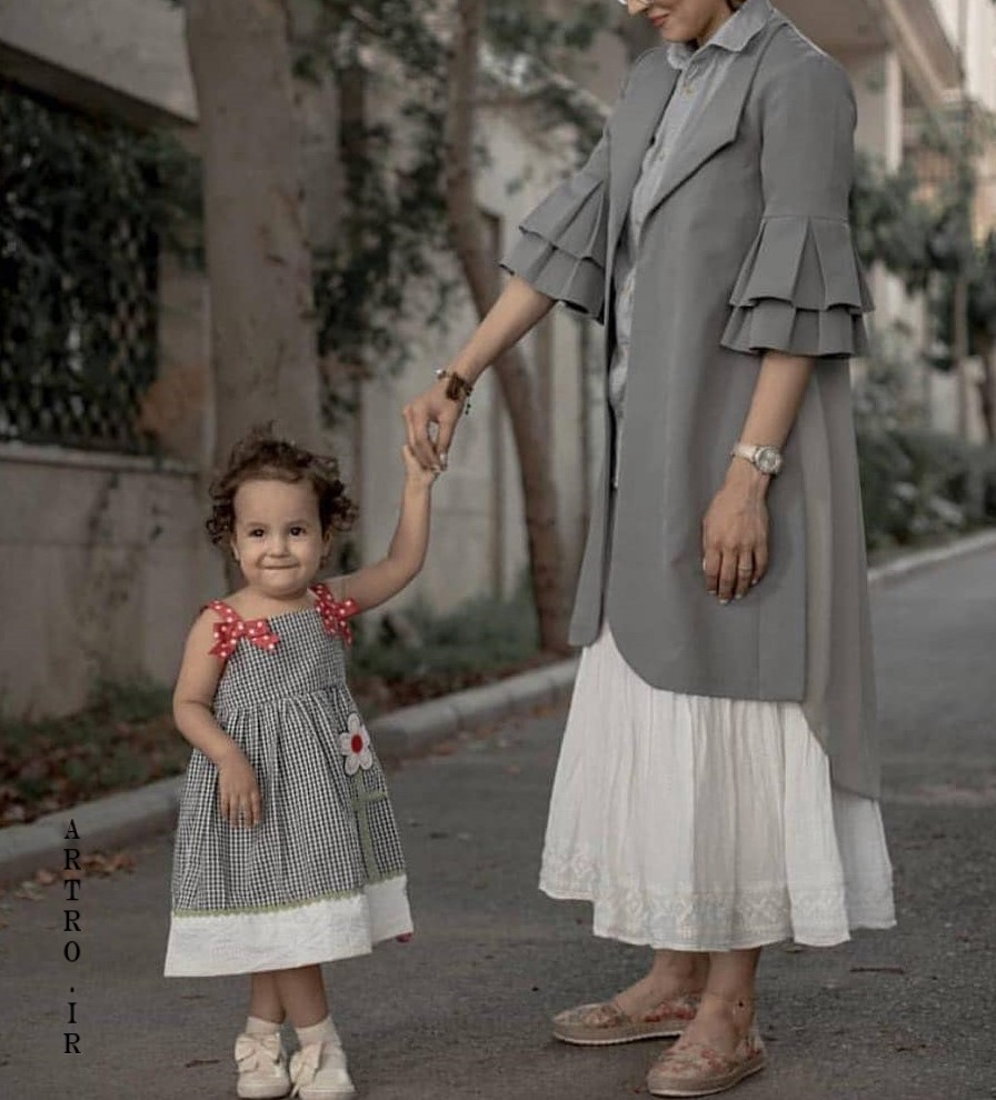 مدل ست مانتو مادر و دختر